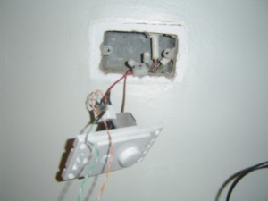 Wired light switch